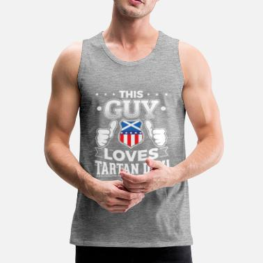 Tartan This guy loves Tartan Day T Shirt Gift - Men's Premium Tank Top