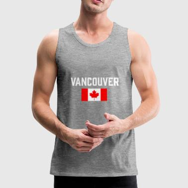 Vancouver Canada Flag British Columbia Canadian - Men's Premium Tank Top