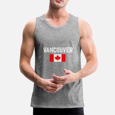 Canada Vancouver Canada Flag British Columbia Canadian - Men's Premium Tank Top