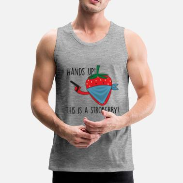 Comic Burglar Strawberry Comic Hands Up! - Tank top męski Premium