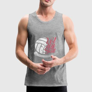 Volleybal beach volleybal beach game zomer - Mannen Premium tank top
