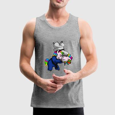 Unicorn Hip Throw - BJJ JiuJitsu MMA Shirt - Herre Premium tanktop