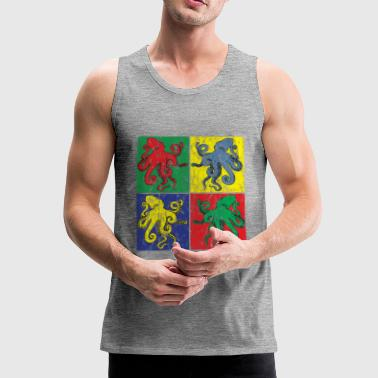 Pop Art Oktopus Used look - Männer Premium Tank Top