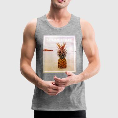 pineapple in sand - Men's Premium Tank Top