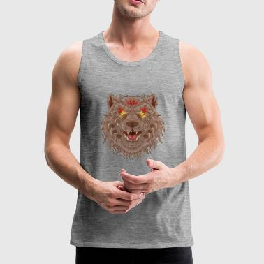 WOLF TATOO - Men's Premium Tank Top