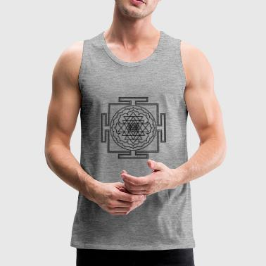 Shri Yantra Yoga Meditation Zen Sacred geometry - Men's Premium Tank Top