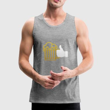 I LIKE CRAFT BEER PARTY TIME BIERFEST PRESENT TEE - Männer Premium Tank Top