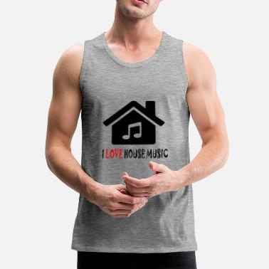 House House Music House-feesthemd - Mannen Premium tank top