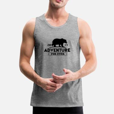Sport ADVENTURE FOR EVER - GRIZZLY - Mannen Premium tank top
