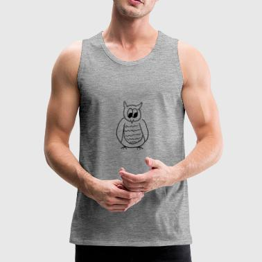 owl - Men's Premium Tank Top