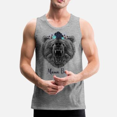 Cool Floral Mama Bear Wild Grizzly Bear Regalo divertido - Tank top premium hombre
