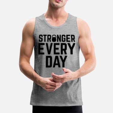 Training Stronger Every Day - Débardeur Premium Homme
