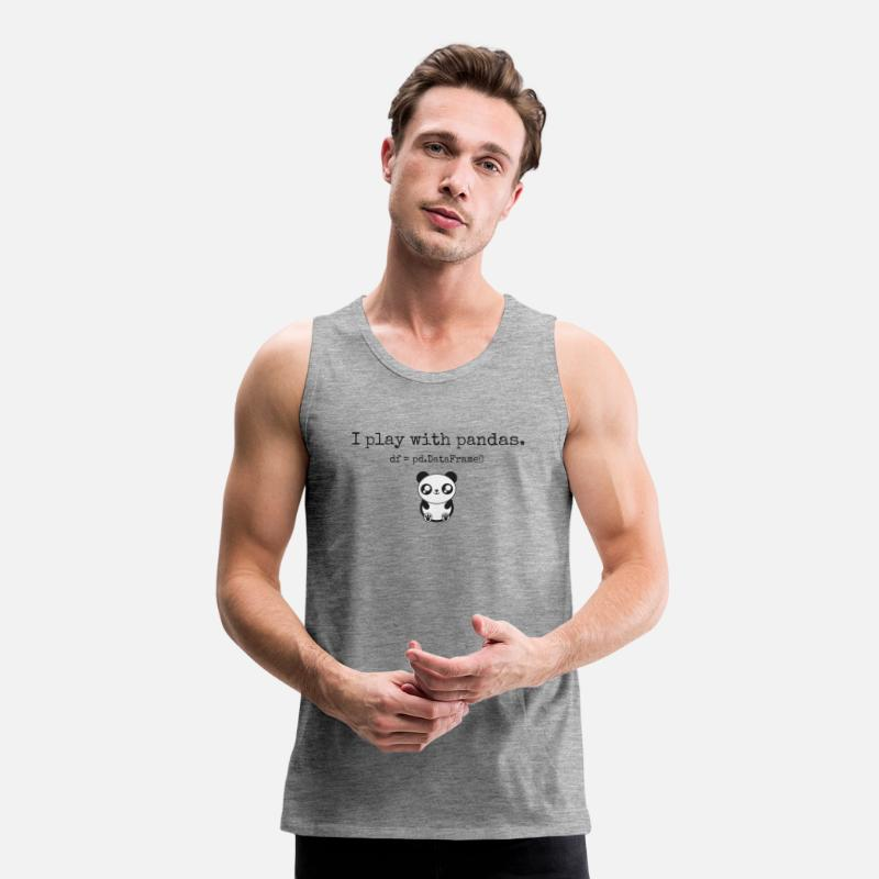 Data Tank Tops - Python and data science nerd apparel - Men's Premium Tank Top heather grey