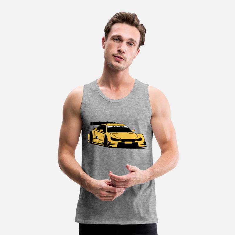 Car Tank Tops - Touring-Car Racing - Men's Premium Tank Top heather grey
