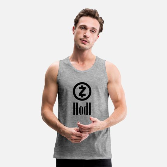 Currency Tank Tops - HODL ZCash Crypto currency | Crypto currency - Men's Premium Tank Top heather grey