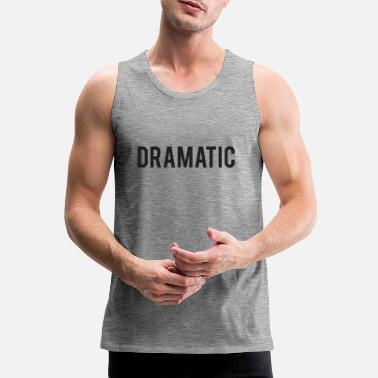 Suit Dramatic Print - Men's Premium Tank Top