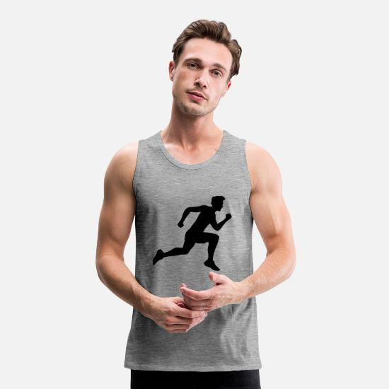 Cool Tank Tops - sport race sprinting fast endurance training joggi - Men's Premium Tank Top heather grey