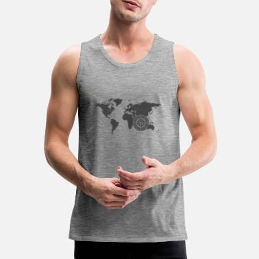 Map with compass 2 - Men's Premium Tank Top