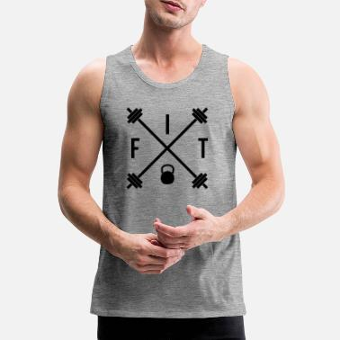 Fitness Hipster Fit - Men's Premium Tank Top