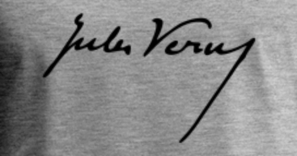 Visjonær Jules Gabriel Verne Signatur 1 Premium singlet for menn   Spreadshirt