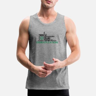 Wordart fjell WordArt - Premium singlet for menn
