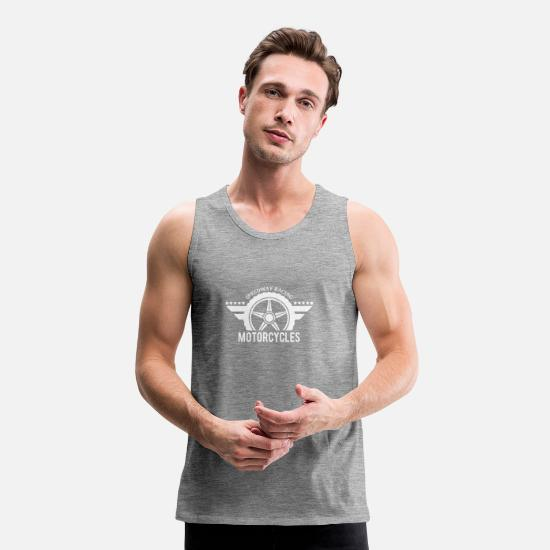 Gift Idea Tank Tops - Speedway Racing Motorcycles - Men's Premium Tank Top heather grey