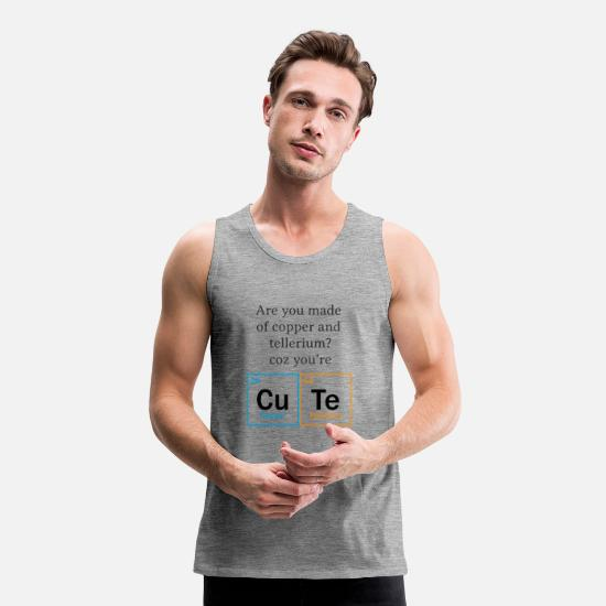 Cool Quote Tank Tops - Cute nerd - Men's Premium Tank Top heather grey