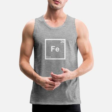 Iron Metal Iron Iron Periodic Table Triathlete Iron Man Tee - Men's Premium Tank Top