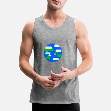 Illustration Earth illustration - Men's Premium Tank Top