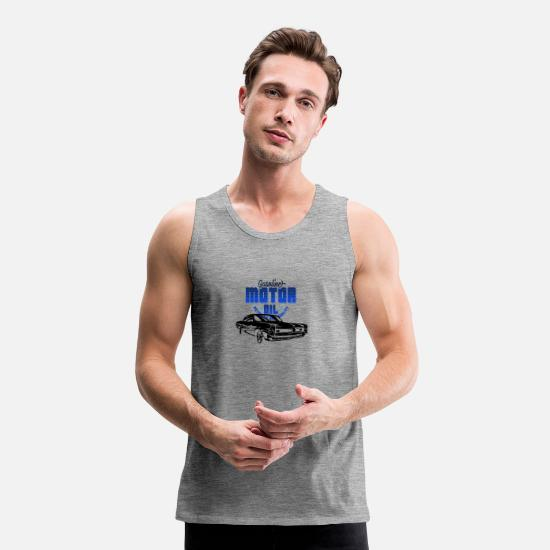 V8 Tank Tops - Patch Muscle Car - Men's Premium Tank Top heather grey