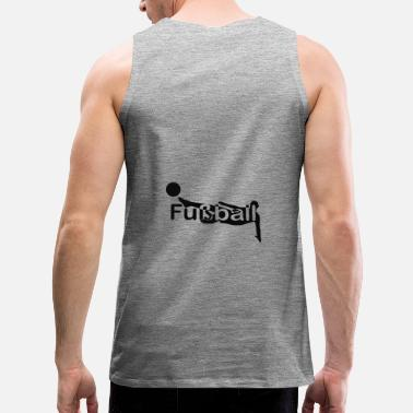European Champion Football silhouette font in the middle - Men's Premium Tank Top