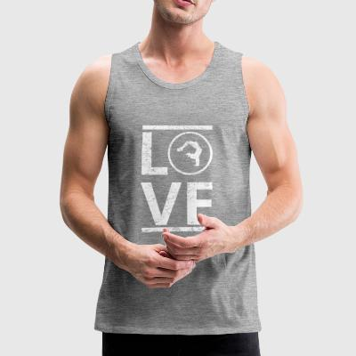 love love calling hobby king master yoga meditat - Men's Premium Tank Top