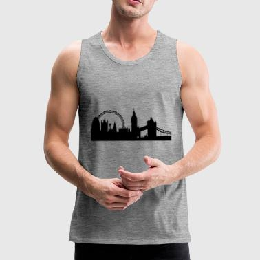 london silhouette 2 - Men's Premium Tank Top