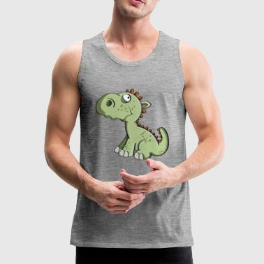 Little dragon - dinosaurs - children - Men's Premium Tank Top