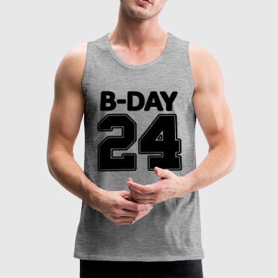 24 number number for the 24th birthday football jersey - Men's Premium Tank Top