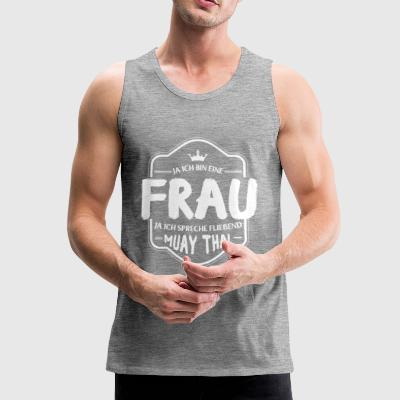 Muay Thai shirt-speak fluently - Men's Premium Tank Top