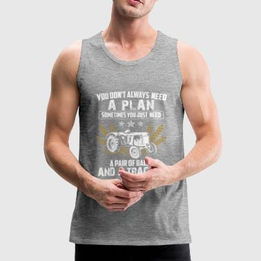 Tractor Shirt · Agriculture · Two Eggs Plan - Men's Premium Tank Top