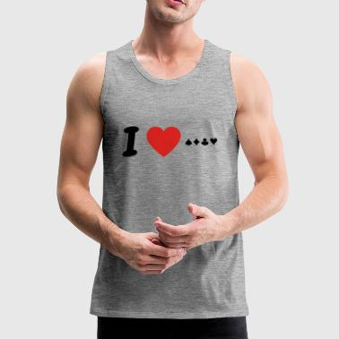 I love poker poker png - Men's Premium Tank Top
