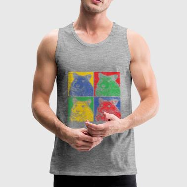 Hamster Retro Rodent Gift Zoo Animal Park - Tank top premium hombre