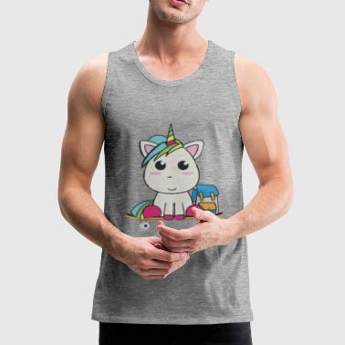 Unicorn T-Shirt Skateboard - Mannen Premium tank top