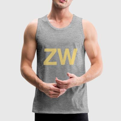 ZW Initials - Men's Premium Tank Top