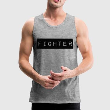 Fighter Shirt Design Schwarz - Männer Premium Tank Top