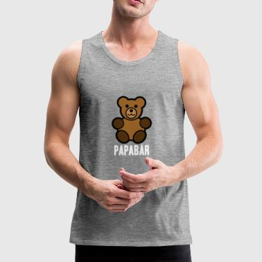 Papabär Father's Day Gift Idea Bear Animal - Men's Premium Tank Top