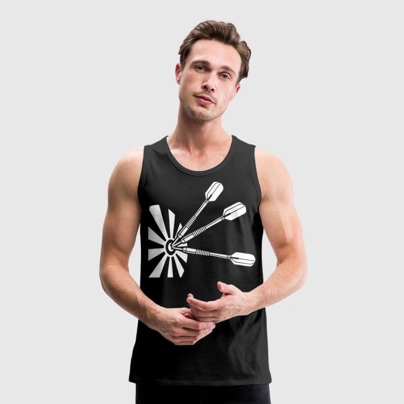 Triple Bullseye * darts Dartboard Dart   - Men's Premium Tank Top