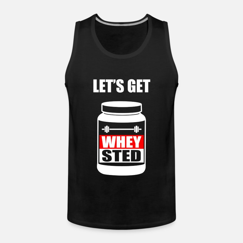 Funny Tank Tops - Funny Gym Sports Whey - Men's Premium Tank Top black