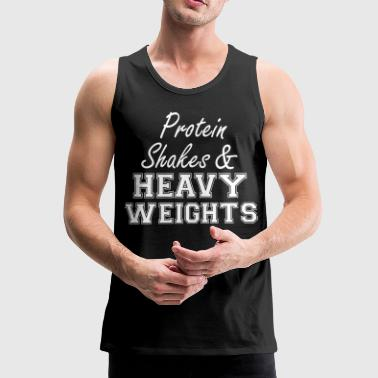 Protein Shakes And Heavy  - Männer Premium Tank Top