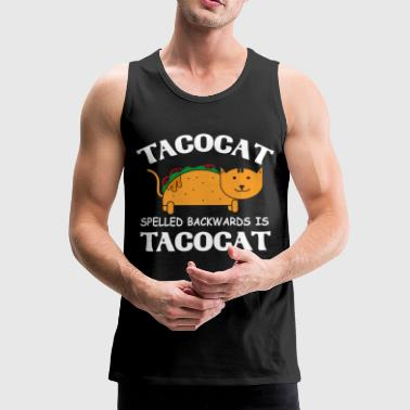 Funny Tacocat cat - Men's Premium Tank Top