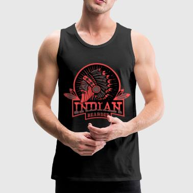 Indianer INDIAN BEARDED - Männer Premium Tank Top