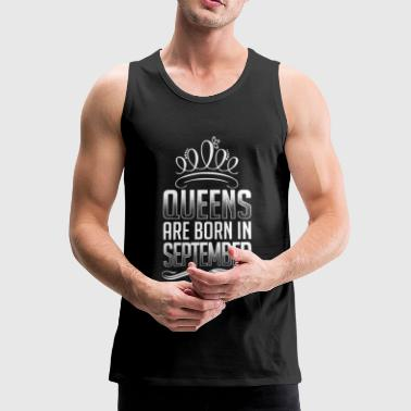 September - Queen - verjaardag - 3 - nl - Mannen Premium tank top