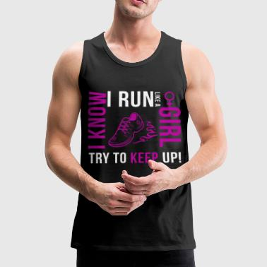 Girl Running Girl Run - Men's Premium Tank Top